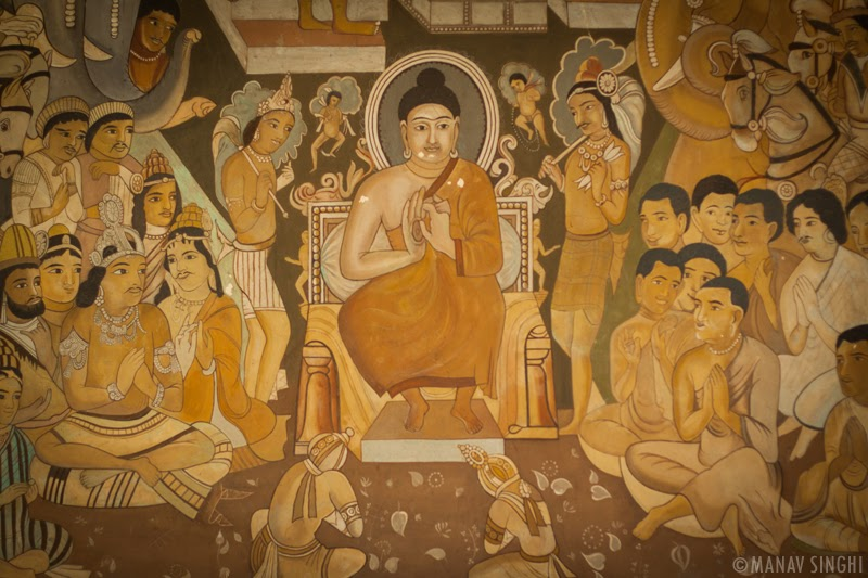 Painting of Budha at Albert Hall Museum, Jaipur.