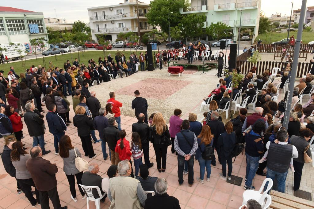 Η νέα πλατεία στην συνοικία του Αγίου Γεωργίου εγκαινιάστηκε από το δήμαρχο Λαρισαίων σε μια λιτή και όμορφη εκδήλωση (ΦΩΤΟ)