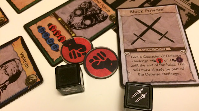 No Honor Among Thieves review - complication cards