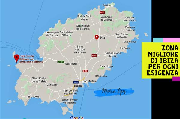 zona migliore dove alloggiare Ibiza