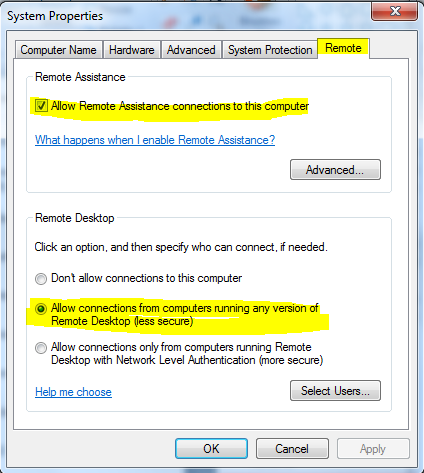 Remote PC dengan Remote Desktop Bawaan Windows 7