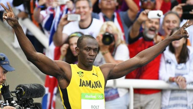 RIO 2016 - Usain Bolt becomes the First man to win gold in ...
