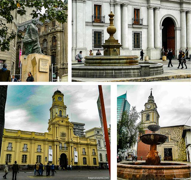 Atrações no Centro de Santiago do Chile