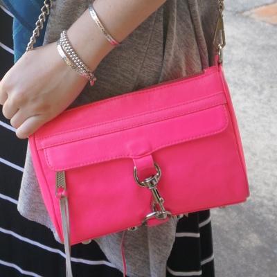 Rebecca Minkoff neon pink mini MAC | AwayFromTheBlue