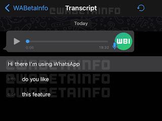 قد نرى تطبيق واتساب WhatsApp يدعم تحويل الرسائل الصوتية إلى نص