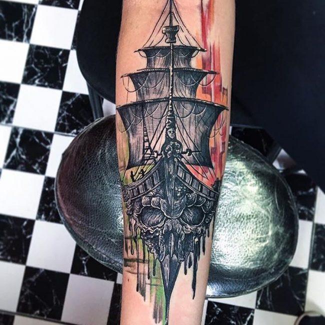 tatuajes de barco pirata