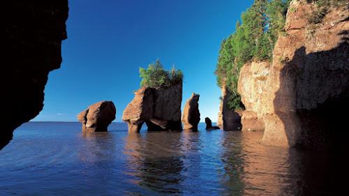 Baia de Fundy - maior variação de maré do mundo