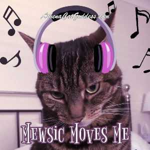 graphic with cat and musical notes
