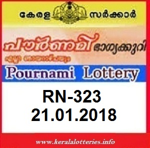 POURNAMI (RN-323) LOTTERY RESULT ON JANUARY  21, 2018