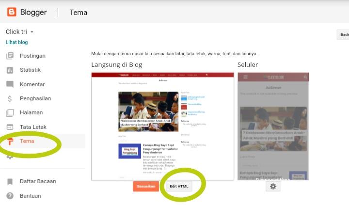 Cara menghilangkan deskripsi atau snippet blog