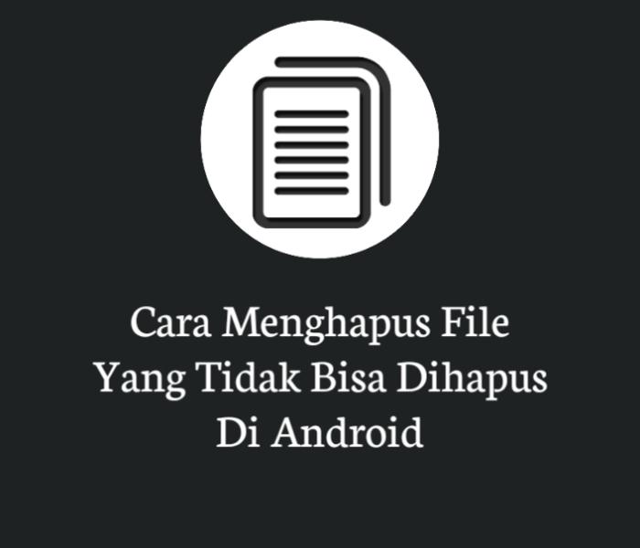 Cara Menghapus File