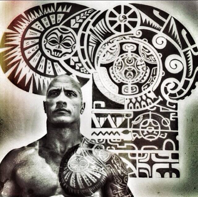 Niezmywalna Tozsamosc Dwayne The Rock Johnson Tattoo Tatuaż