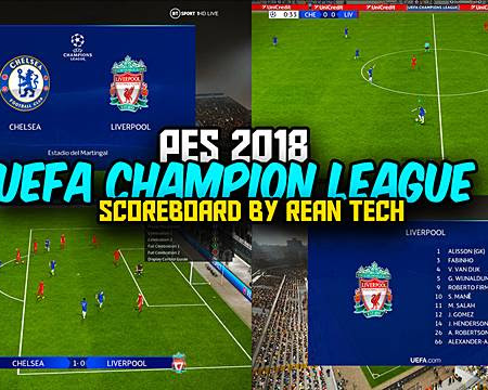 PES 2018 RT Scoreboard UEFA Champion League 2021