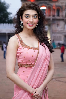 Pranitha Subash Looks Milky white rosy cheeks in Pink