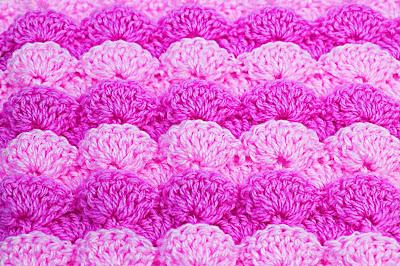 6 -  Foto de punto a abanicos en reliave a crochet. Majovel crochet.