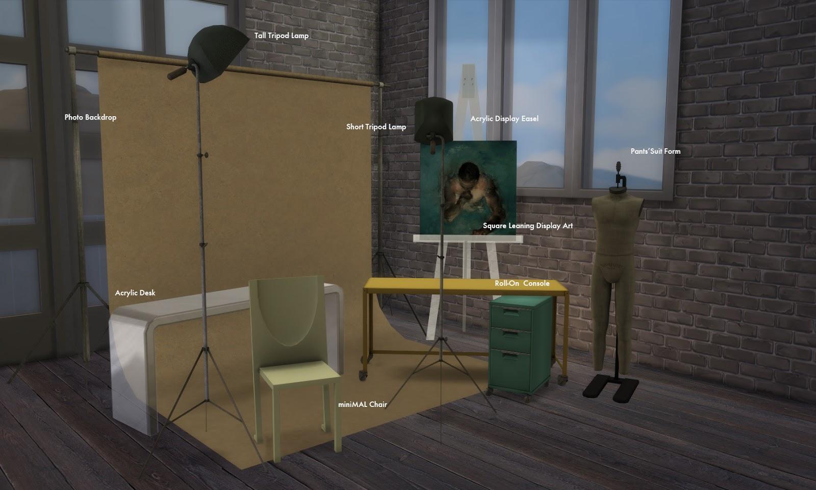 My Sims 4 Blog: Studio Sweet Set by bau
