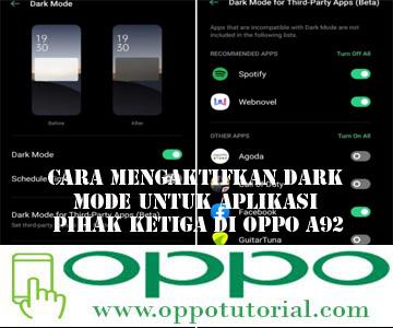 Cara Mengaktifkan Dark Mode untuk Aplikasi Pihak Ketiga di OPPO A92