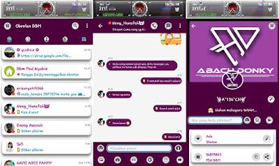 BBM Mod AD Koplax Tema Purple V3.2.0.6 apk