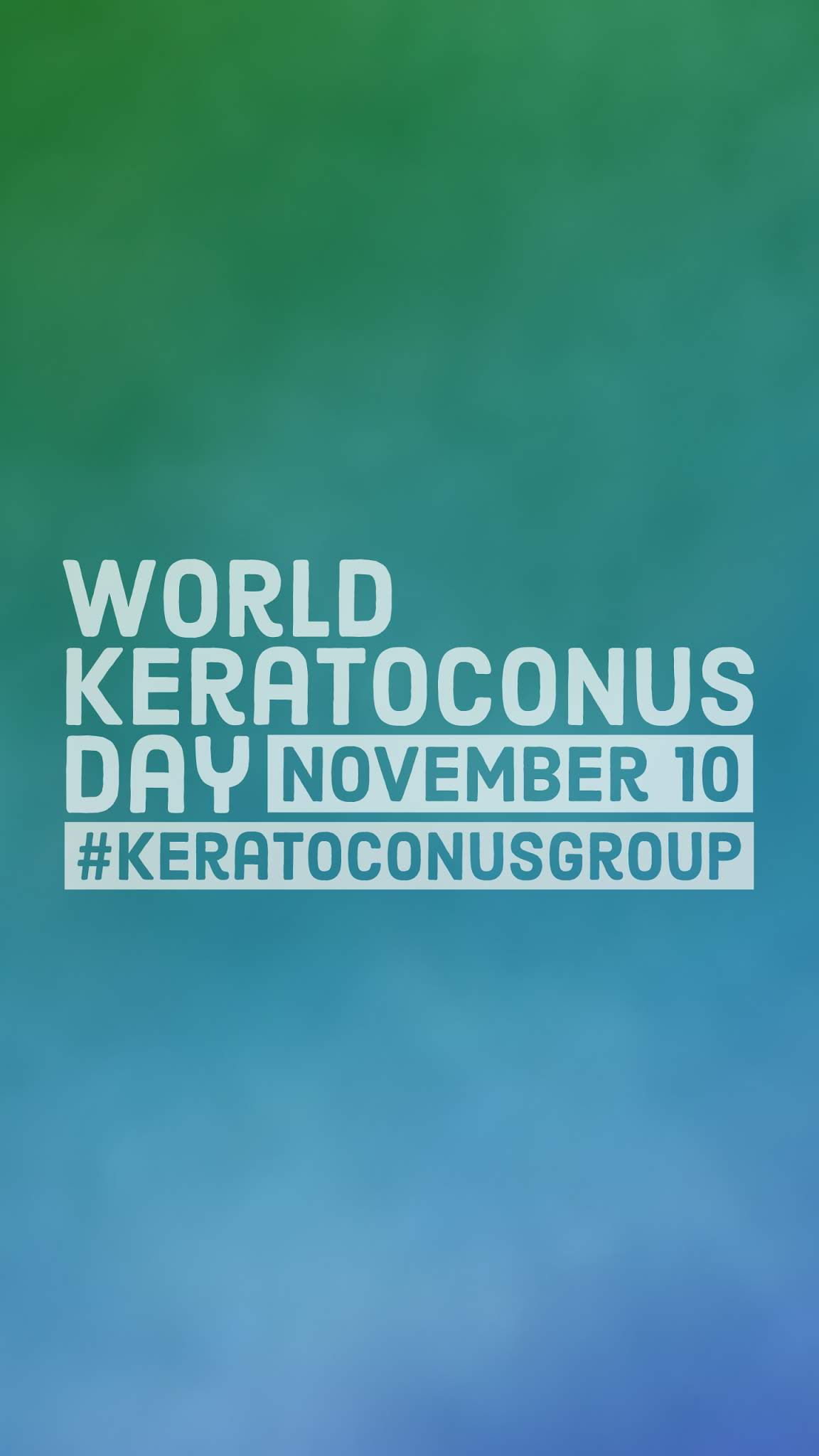 National Keratoconus Day 2019 Mobile Wallpaper