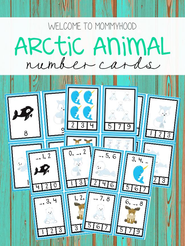 Arctic animal number activities by Welcome to Mommyhood #winteractivities, #preschoolactivities, #montessori, #montessoriactivities, #mathactivities,