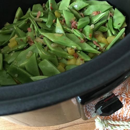 Bohnengemüse mit Speck aus dem Slowcooker