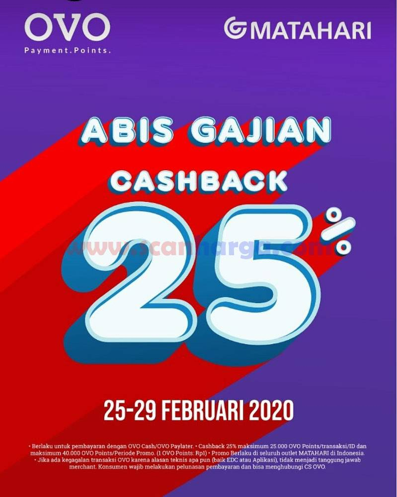 Promo Matahari Cashback Ovo Habis Gajian 25 29 Februari 2020 Scanharga