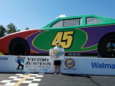Eleven-Year-Old Supports Victory Junction with Hand Drawn RPM Bubba Wallace Poster #NASCAR