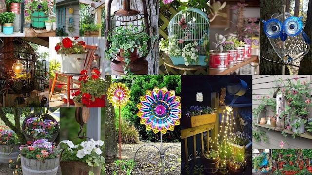 Διακοσμήσεις και Κατασκευές για Κήπο-Μπαλκόνι από παλιά - άχρηστα αντικείμενα