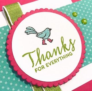 Stampin' Up! Springtime Stroll Thank You Card for #GDP177 ~ www.juliedavison.com