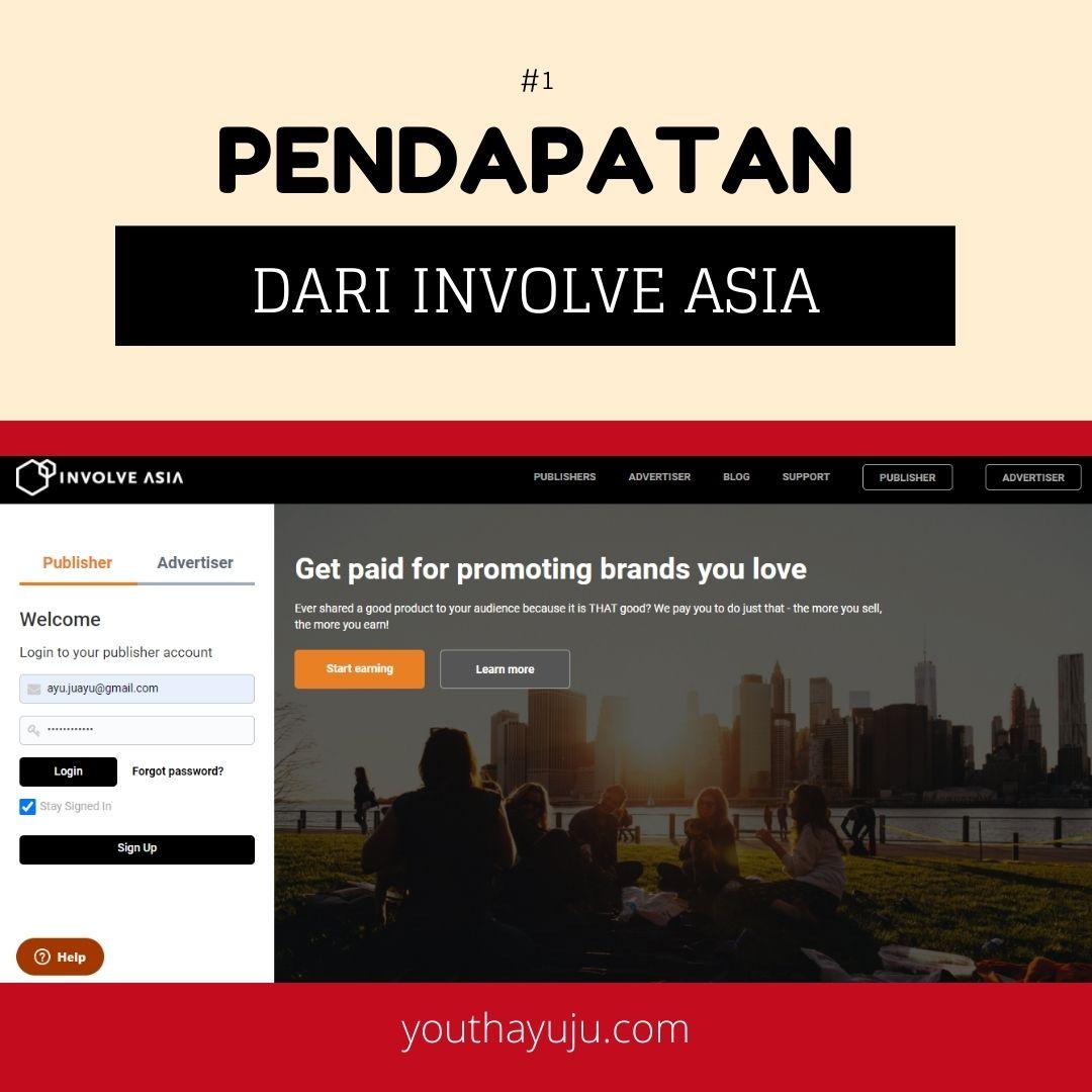 Pendapatan Involve Asia. Hasil yang diperolehi daripada Involve Asia Affliate selama sebulan. Pendapatan yang berbaloi.