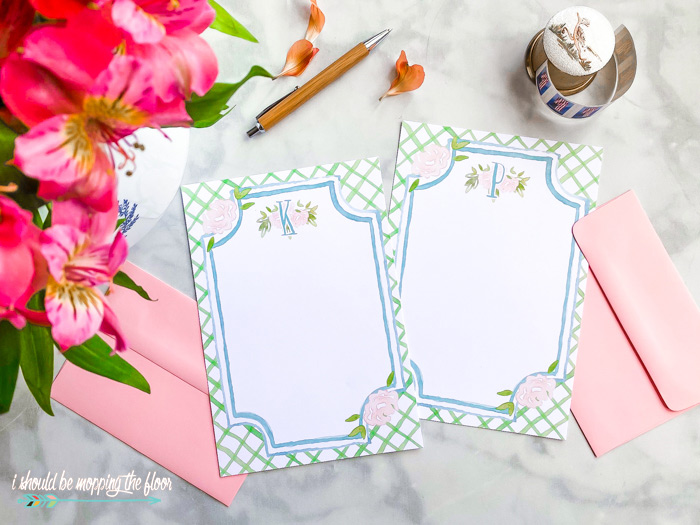 Free Printable Monogrammed Stationery