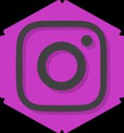 instagram hexagon icon