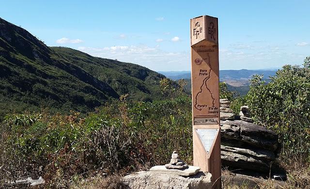 Santo Antônio do Norte, Conceição do Mato Dentro, Itapanhoacanga, Caminho dos Diamantes, totem, marco da Estrada Real