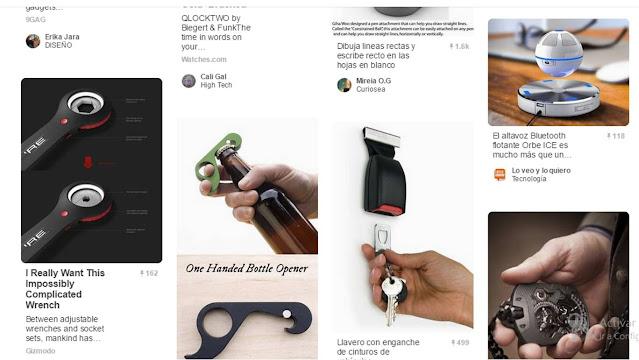 Página de Pinterest de gadgets