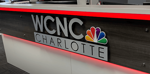 Custom WCNC Charlotte Lobby Sign