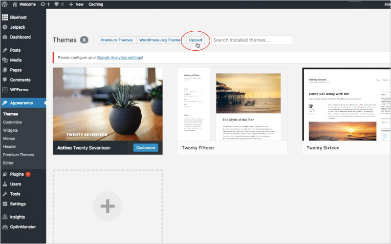 how to install wp-themes (choose themes/upload)