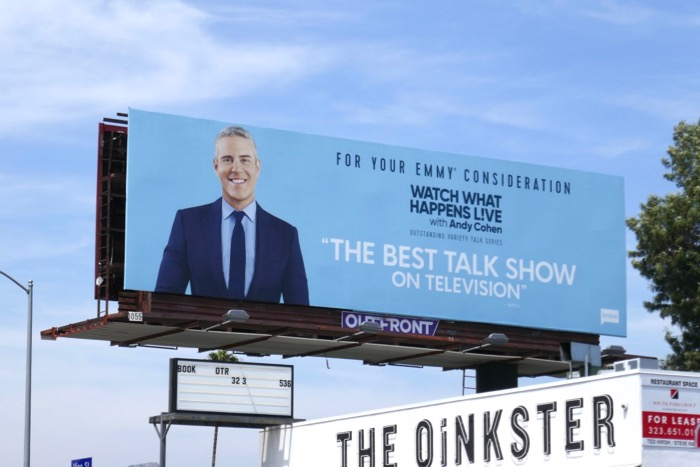 Watch What Happens Live Andy Cohen 2019 Emmy FYC billboard
