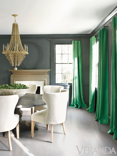 Dark Green Dining Room Design Ideas Remodels Photos: Room Candy: Colour Splash : 2013 Colour Trends...Who Cares?
