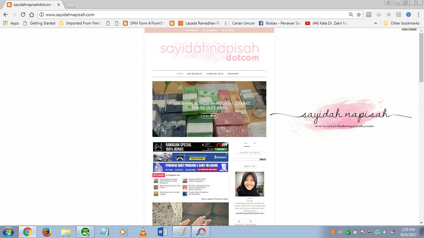 Header sayidahnapisahdotcom & Template Blog Berwajah Baru!
