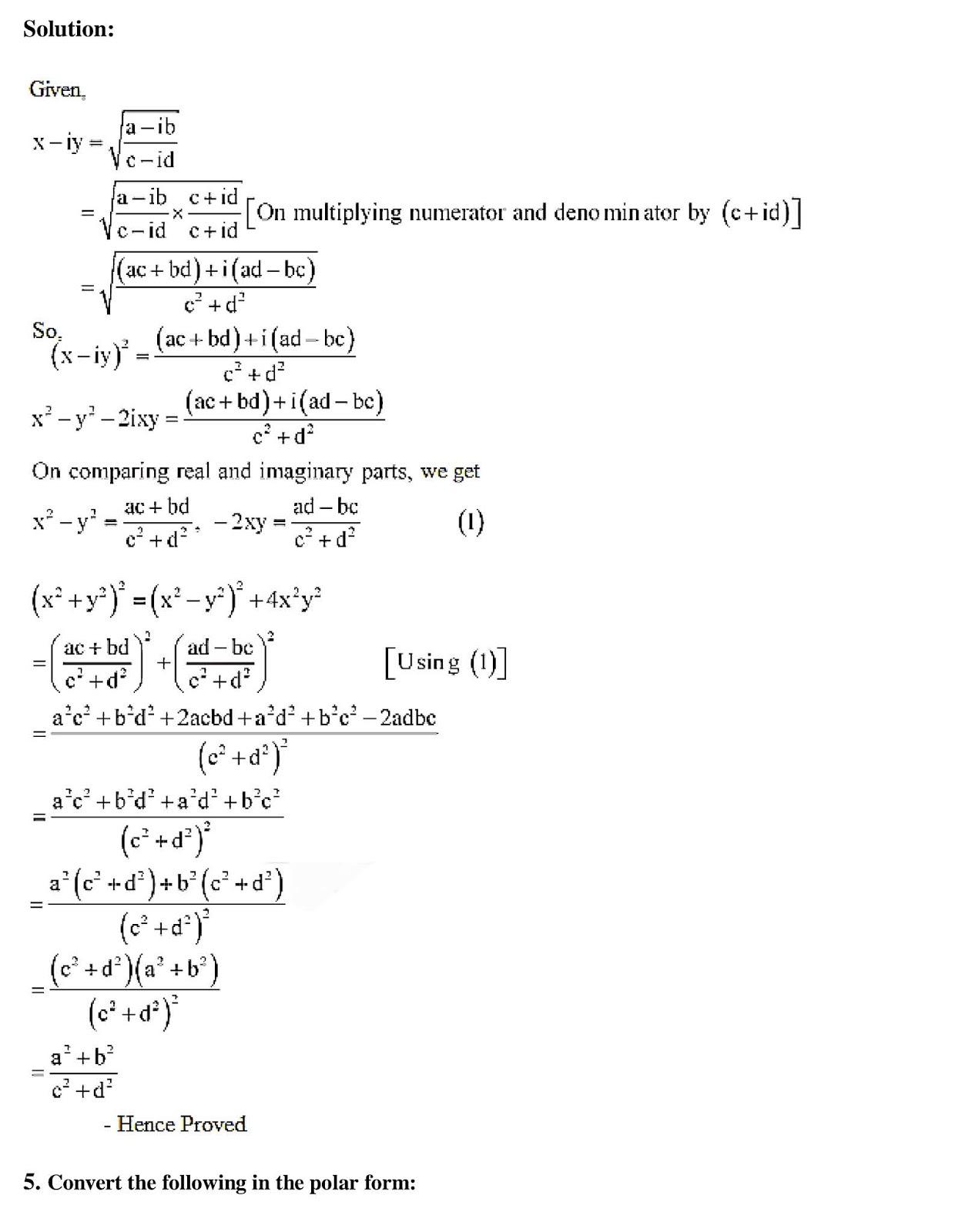 Class 11 Maths Chapter 5 Complex Numbers and Quadratic Equations,  11th Maths book in hindi,11th Maths notes in hindi,cbse books for class  11,cbse books in hindi,cbse ncert books,class  11  Maths notes in hindi,class  11 hindi ncert solutions, Maths 2020, Maths 2021, Maths 2022, Maths book class  11, Maths book in hindi, Maths class  11 in hindi, Maths notes for class  11 up board in hindi,ncert all books,ncert app in hindi,ncert book solution,ncert books class 10,ncert books class  11,ncert books for class 7,ncert books for upsc in hindi,ncert books in hindi class 10,ncert books in hindi for class  11  Maths,ncert books in hindi for class 6,ncert books in hindi pdf,ncert class  11 hindi book,ncert english book,ncert  Maths book in hindi,ncert  Maths books in hindi pdf,ncert  Maths class  11,ncert in hindi,old ncert books in hindi,online ncert books in hindi,up board  11th,up board  11th syllabus,up board class 10 hindi book,up board class  11 books,up board class  11 new syllabus,up Board  Maths 2020,up Board  Maths 2021,up Board  Maths 2022,up Board  Maths 2023,up board intermediate  Maths syllabus,up board intermediate syllabus 2021,Up board Master 2021,up board model paper 2021,up board model paper all subject,up board new syllabus of class 11th Maths,up board paper 2021,Up board syllabus 2021,UP board syllabus 2022,   11 वीं मैथ्स पुस्तक हिंदी में,  11 वीं मैथ्स नोट्स हिंदी में, कक्षा  11 के लिए सीबीएससी पुस्तकें, हिंदी में सीबीएससी पुस्तकें, सीबीएससी  पुस्तकें, कक्षा  11 मैथ्स नोट्स हिंदी में, कक्षा  11 हिंदी एनसीईआरटी समाधान, मैथ्स 2020, मैथ्स 2021, मैथ्स 2022, मैथ्स  बुक क्लास  11, मैथ्स बुक इन हिंदी, बायोलॉजी क्लास  11 हिंदी में, मैथ्स नोट्स इन क्लास  11 यूपी  बोर्ड इन हिंदी, एनसीईआरटी मैथ्स की किताब हिंदी में,  बोर्ड  11 वीं तक,  11 वीं तक की पाठ्यक्रम, बोर्ड कक्षा 10 की हिंदी पुस्तक  , बोर्ड की कक्षा  11 की किताबें, बोर्ड की कक्षा  11 की नई पाठ्यक्रम, बोर्ड मैथ्स 2020, यूपी   बोर्ड मैथ्स 2021, यूपी  बोर्ड मैथ्स 2022, यूपी  बोर्ड मैथ्स 2023, यूपी  बोर्ड इ
