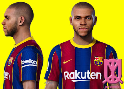 PES 2021 Faces Martin Braithwaite by Uqiya