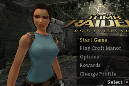Tomb Raider Anniversary PPSSPP ISO High Compress Terbaru for Android/PC Gratis Download