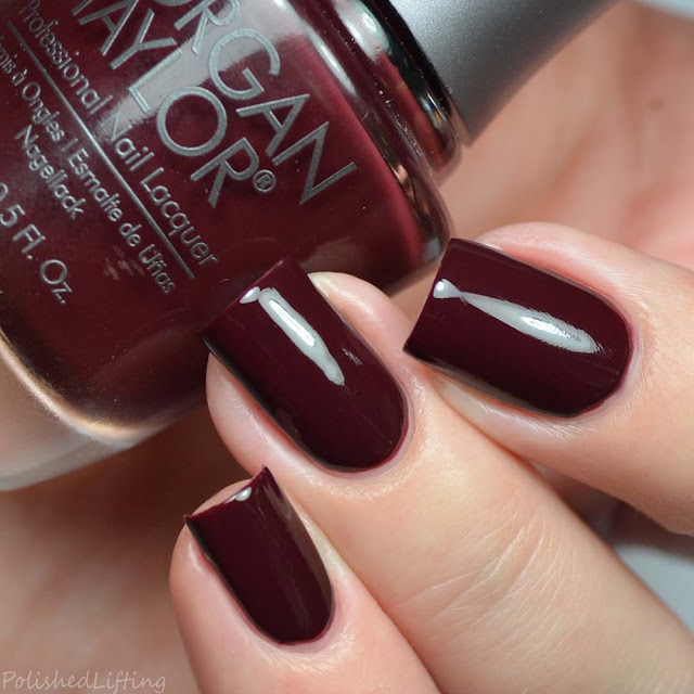 deep burgundy creme nail polish