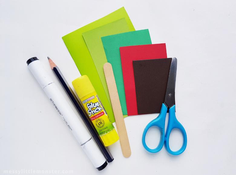 Caterpillar craft supplies