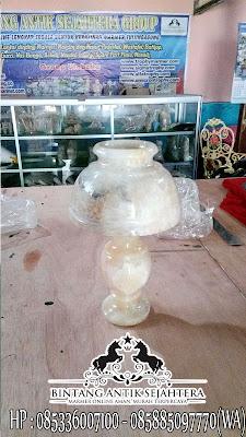 Jual Kap Lampu Onyx, Kap Lampu Hias Berdiri, Kerajinan Onyx Tulungagung