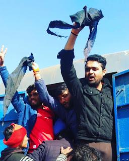 युवक कांग्रेस के प्रदर्शन से पहले ही पुलिस ने किया कांग्रेसी नेता अंकित मिश्रा को घर से गिरफ्तार