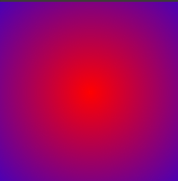 gradasi warna radial