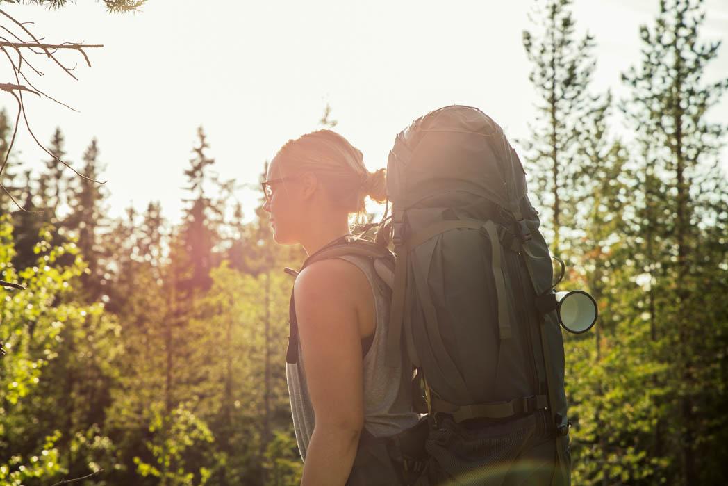 Kolin kansallispuiston ilta-aurinko lämmitti ihanasti poskipäitä.