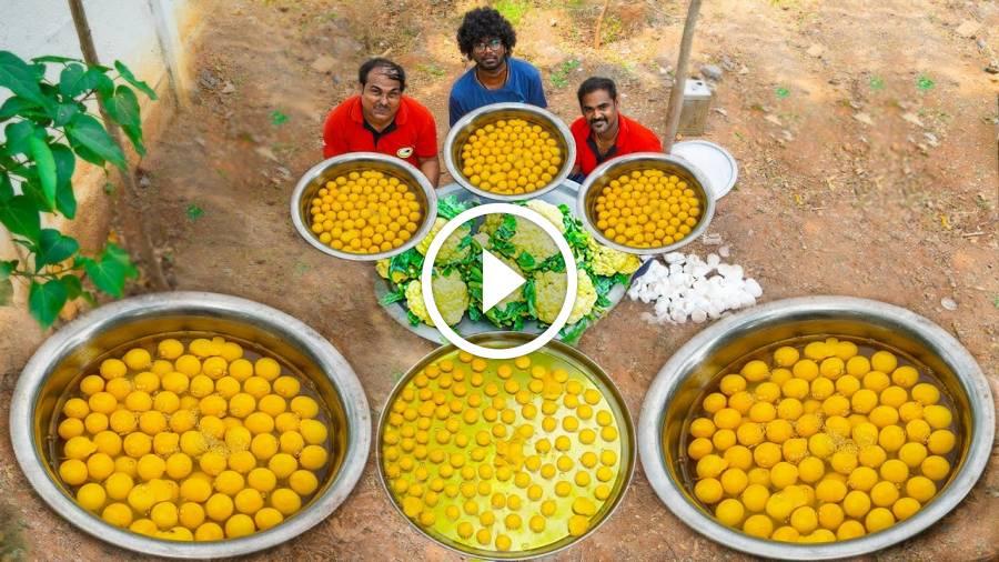 GOBI EGG BHURJI | Egg Cauliflower Curry | Egg Cauliflower Recipe Cooking | World Food Tube