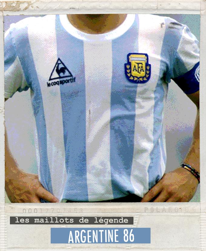 MAILLOT DE LEGENDE. Argentine 86.